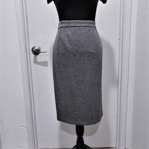 Gucci Wool Cashmere Grey Straight Skirt